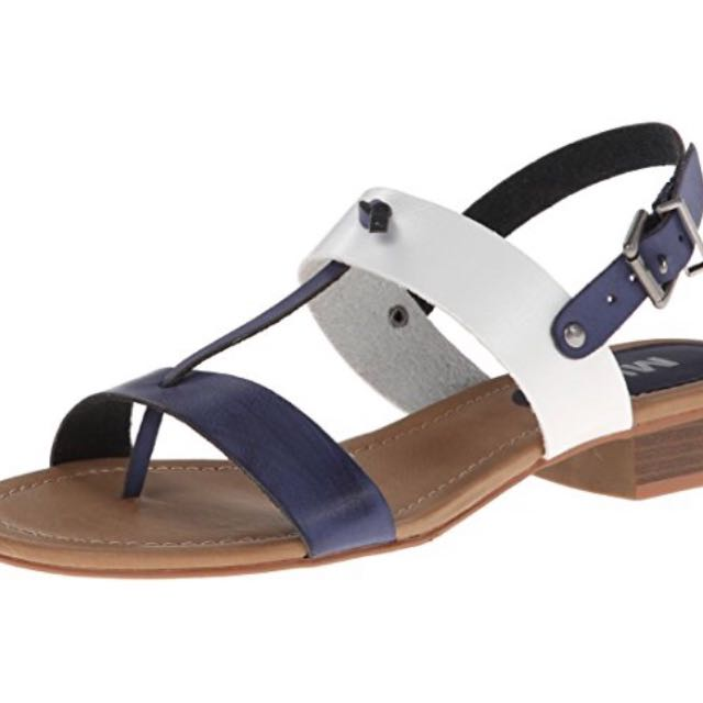 MIA Women's Cali Dress Sandal,Navy Faux Leather,6 M US