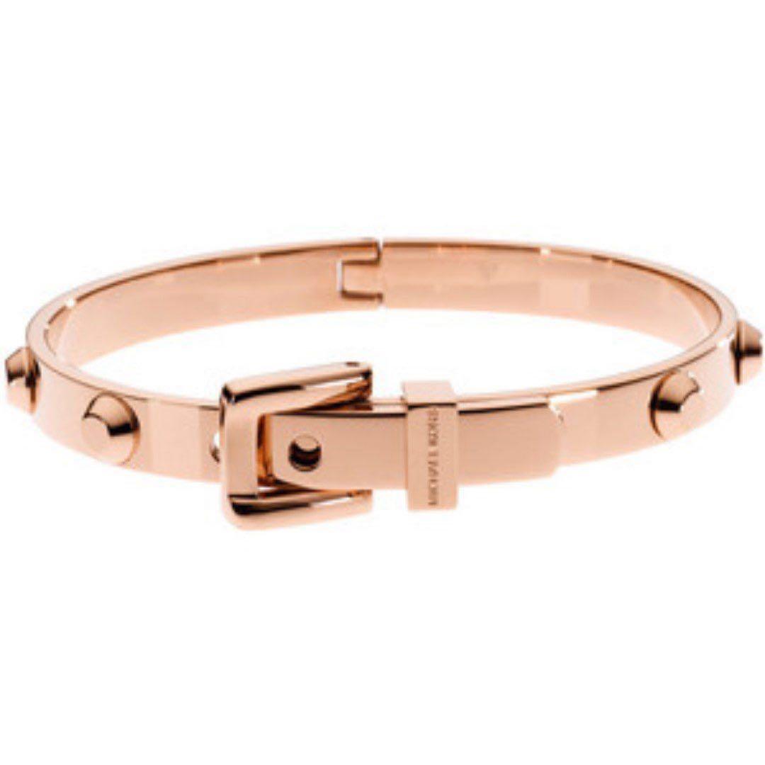 Michael Kors MK 經典時尚鉚釘手環 玫瑰金