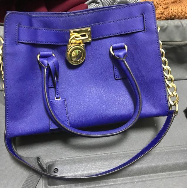 46b030beea967c ... best price michael kors mk handbag hand bag sling tote blue womens  fashion bags wallets on