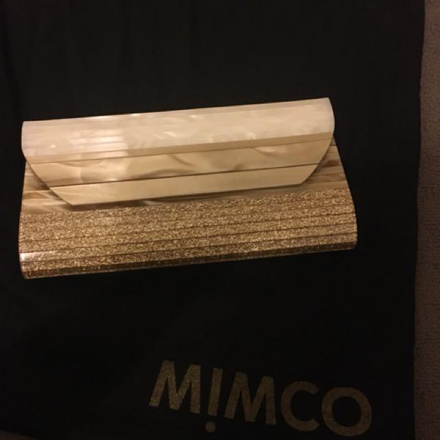 MIMCO GOLD EVENING BAG