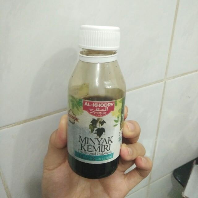 minyak kemiri al-khodry, kesehatan & kecantikan, perawatan rambut di Warna Minyak Kemiri Al Khodry