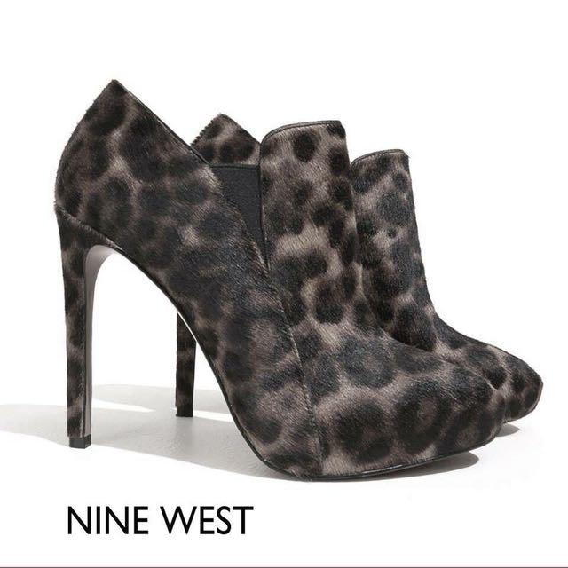 【N17053】Nine West 豹紋踝靴