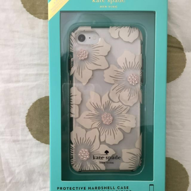 sports shoes 9b49e 172d6 New Kate Spade iPhone 6/6s/7 Clear Hollyhock Floral Case