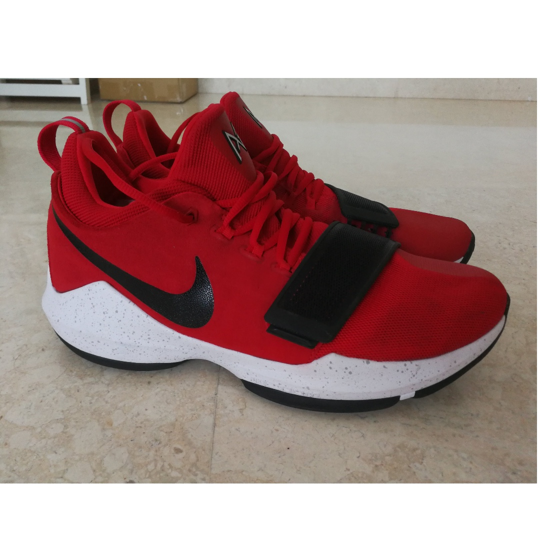 buy popular 7d08b 47a07 Nike PG1 (Paul George) Basketball Shoes Red SZ US13, Sports ...