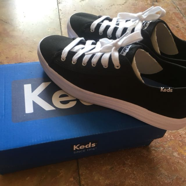 Ori sepatu KEDS triple kick canvas black LIKE NEW