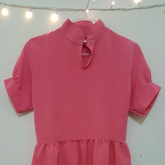 Pink Pemplum Top