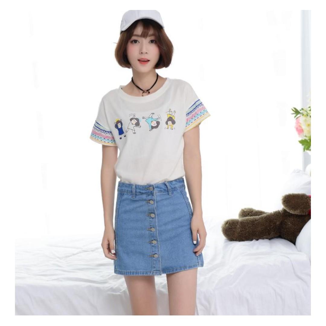 e9984e4963 PO] Korean Denim Skirt shorts, Women's Fashion, Clothes, Dresses ...