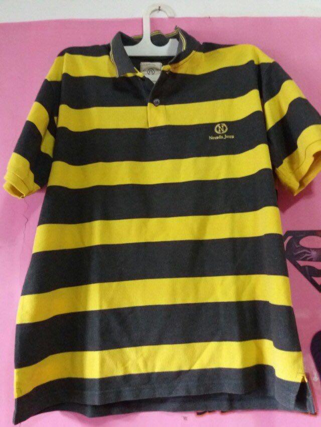 Polo tshirt nevada black yellow