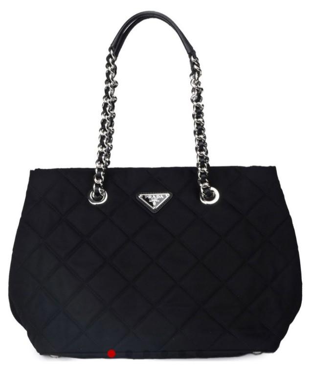 c9e9e5a4445d Prada Tessuto Impuntu Nero - Chain Shoulder Bag (Used)