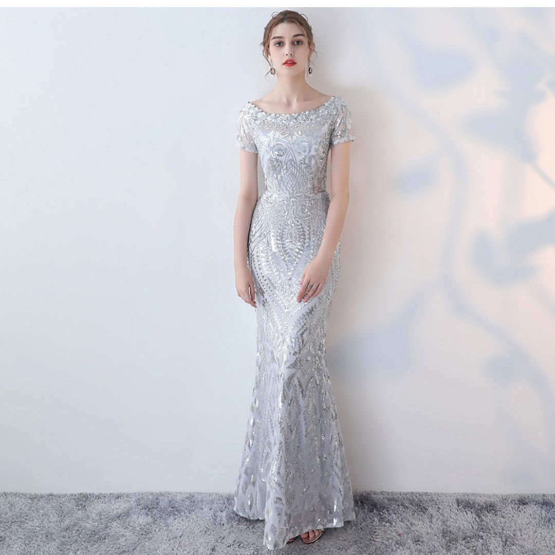 Exelent Silver Sequin Ball Gown Vignette - Wedding and flowers ...