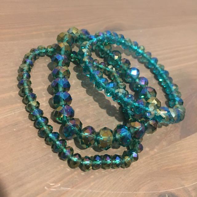 Pretty teal bracelets