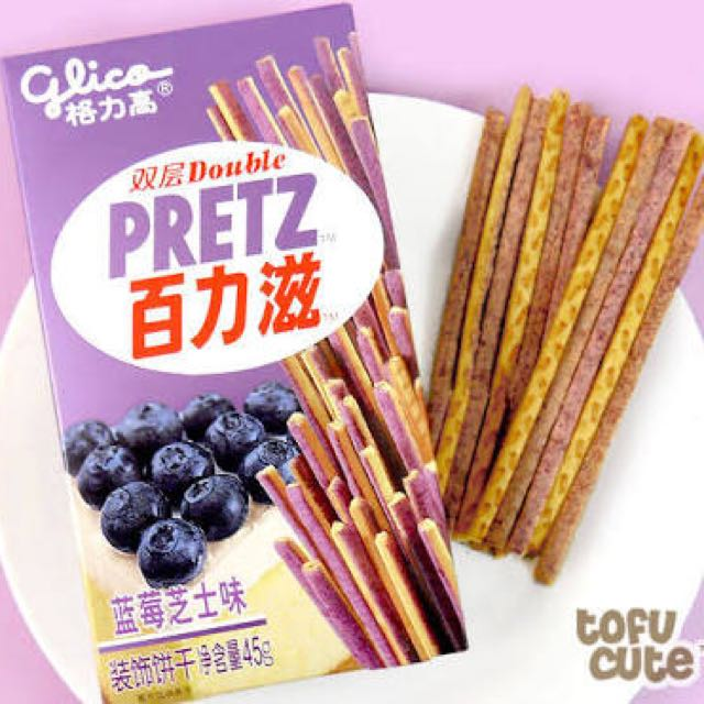 Pretz Glico Blueberry Cheesecake Double