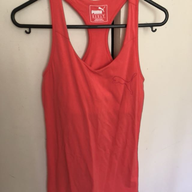 PUMA coral singlet with crop XS