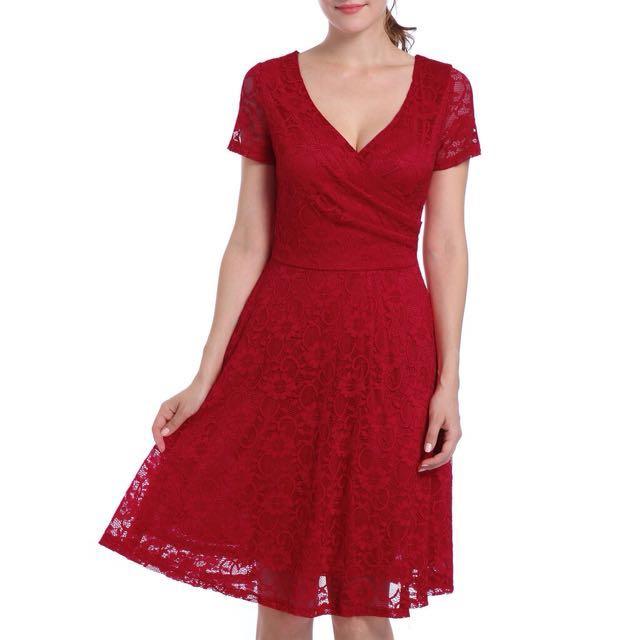 Ready Stock Elegant Lace Dress