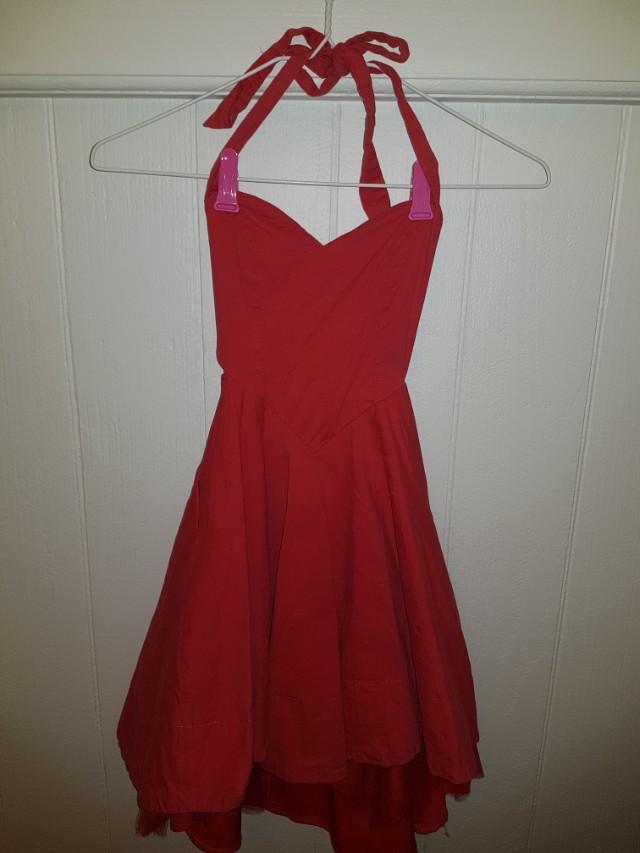 Red dress - heart shaped top, ballerina skirt