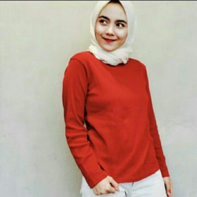 New Red Long Blouse
