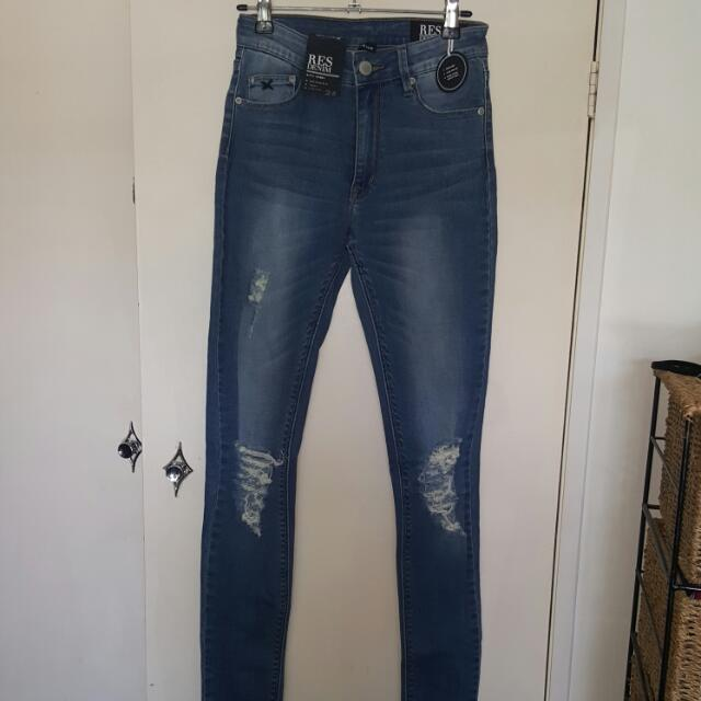 RES kittyskinny denim torn jeans Size 26