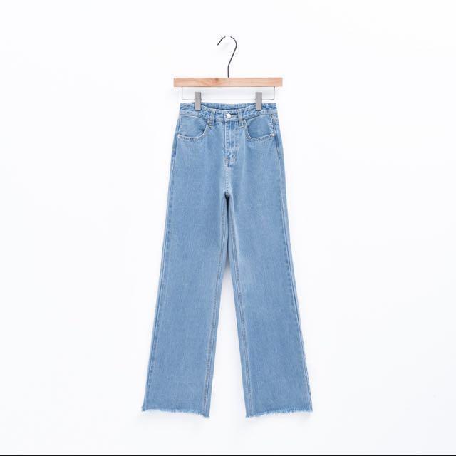 高挑抽鬚牛仔長褲S號#我的女裝可超取