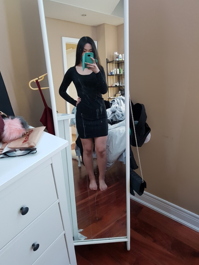 S h&m black sweater dress