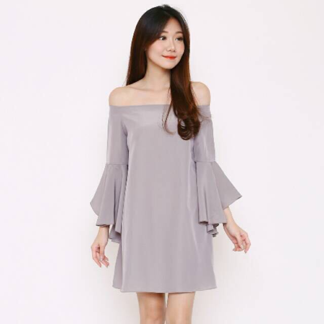 Sabrina blowdress gray