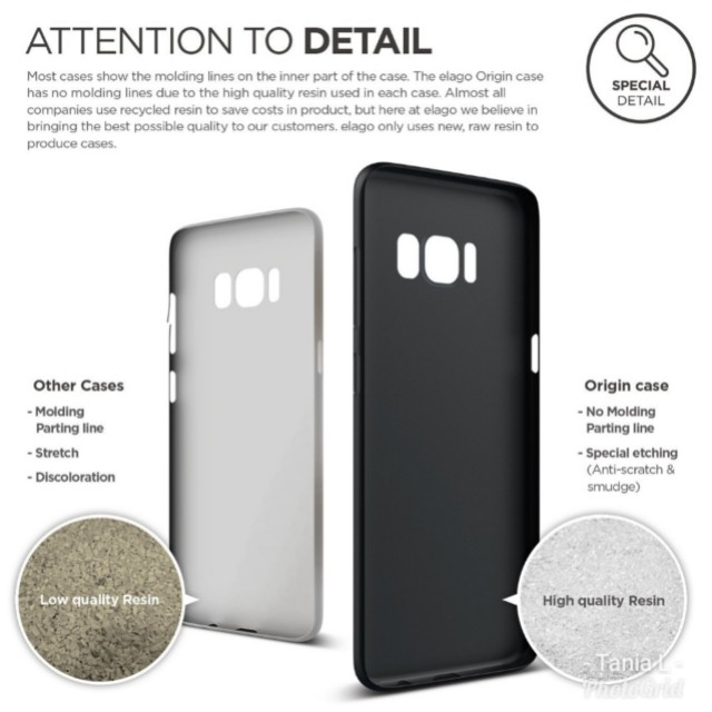 official photos f495e 9dec3 Samsung Galaxy S8 Elago Case Origin Black (BNIB)