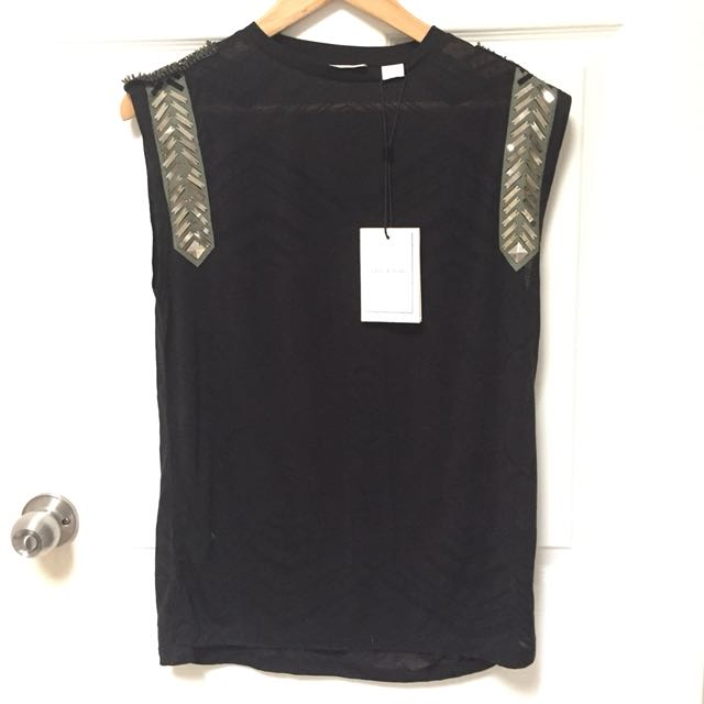 NEW Sass & Bide S/Size 8 Woven Sails Top