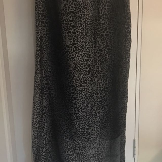 Scarf -Black and white animal print