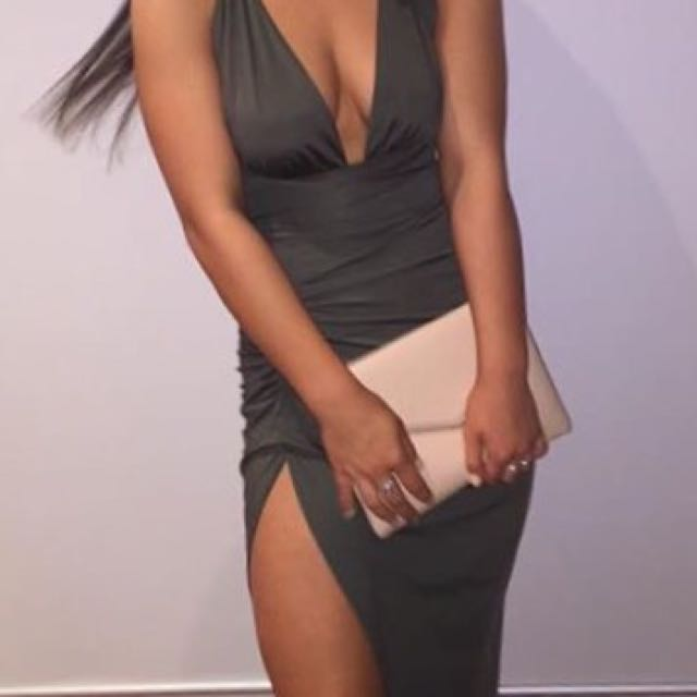 sck the label vixen wrap formal dress