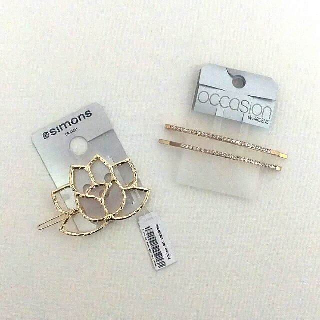 Simons and Ardene Hair Clips