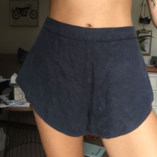 Sir the label linen navy shorts