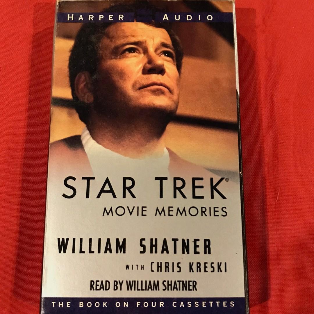 Star Trek Movie Memories by William Shatner (Audio Cassette Collectible),  Books, Books on Carousell