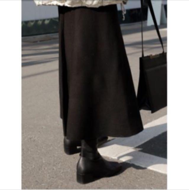 Studiodoe黑色密實針織大圓裙
