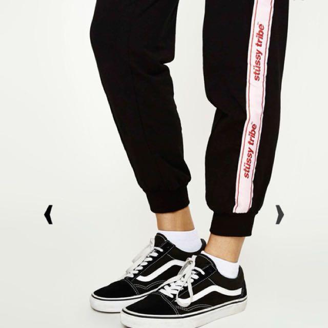 Stussy Belle Trackpant Black Size 6