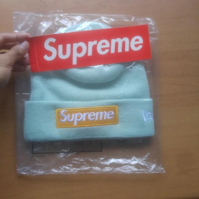3ebf81f07 Supreme New Era Box Logo (FW17) Ice Blue Beanie