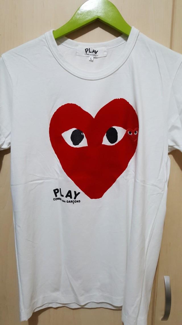 T shirt kaos Play Commes Des Garcons