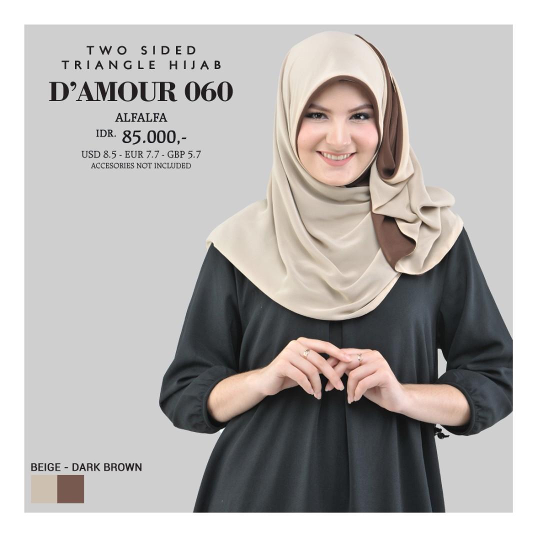 Tatuis Hijab Damour 032 Coklat Daftar Harga Terbaru Dan Terupdate Mukena Shiva 076 Black 060