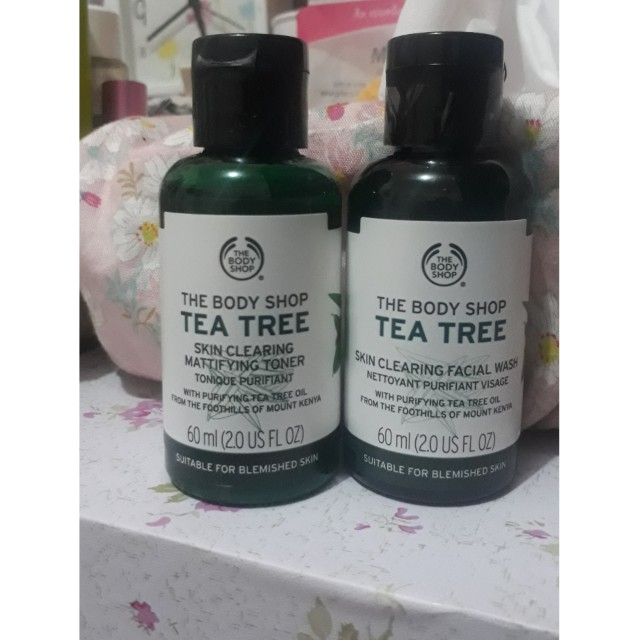 TBS tea tree facial wash dan tones