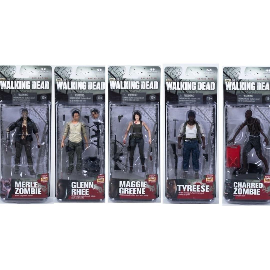 Mcfarlane AMC The Walking Dead Series Set 5 Maggie Glenn Merle Walker Tyreese