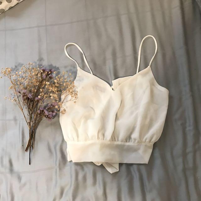 Tie Back Crop Cami