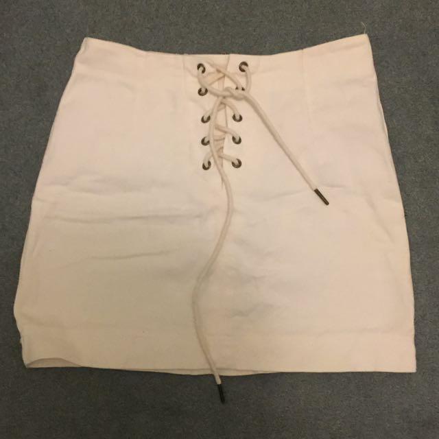 tie up denim mini skirt general pants