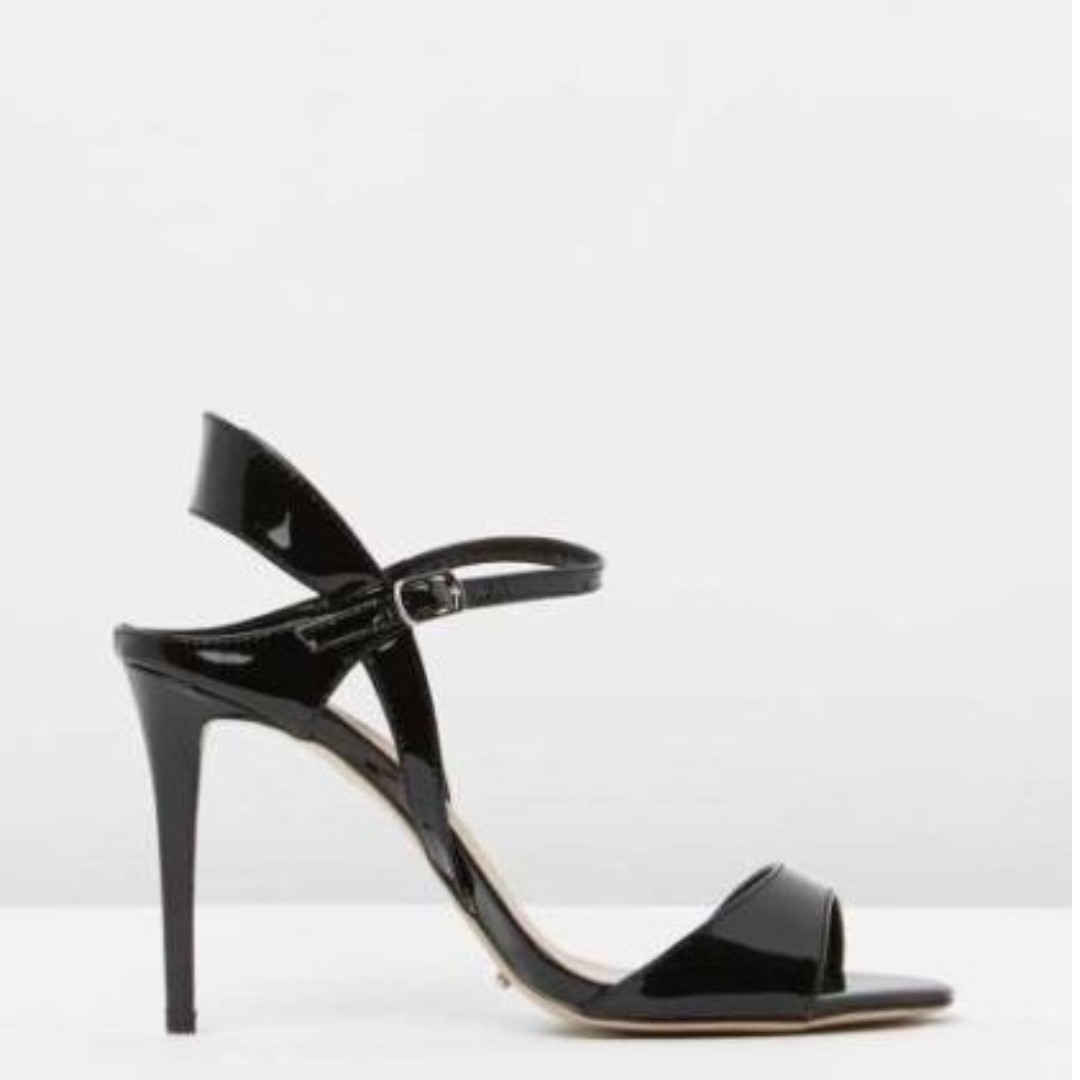 Tony Bianco - Black Leather High Heels $179 - BRAND NEW