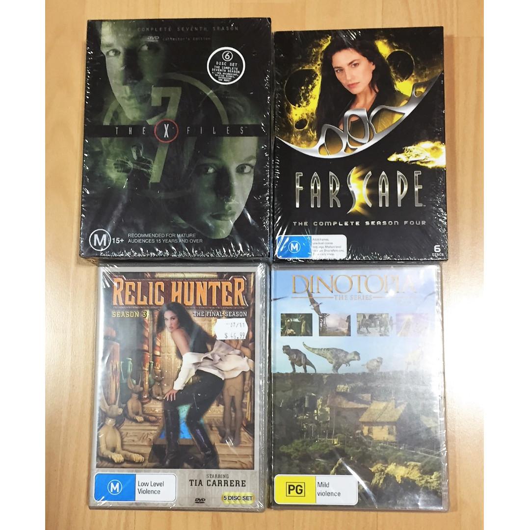 TV Series DVD's: X-Files S7 / Farscape S4 / Relic Hunter S3 / Dinotopia