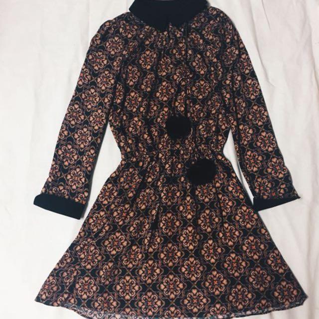 Vintage Collared Dress