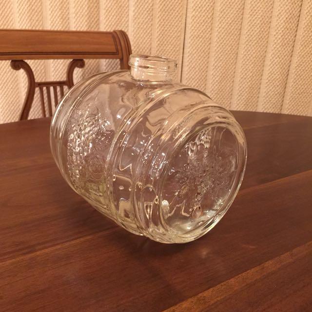 Vintage Glass Wine Keg