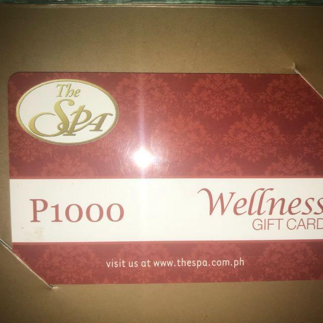 aa54fd97f51e4 WELLNESS PHP 1000 GIFT CARD, Tickets/Vouchers, Gift Cards & Vouchers ...