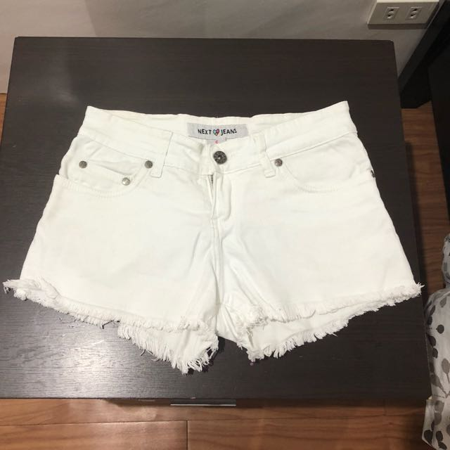 White Maong Shorts