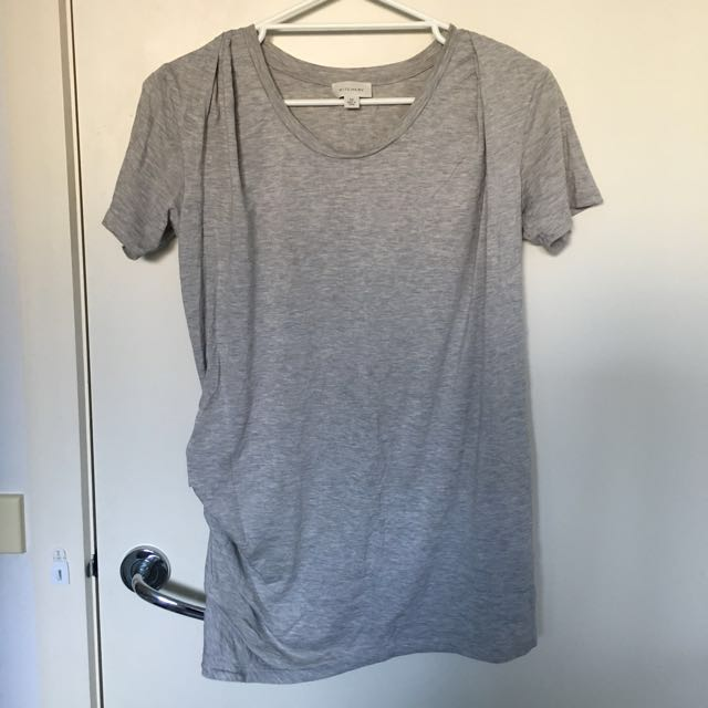Witchery grey gray tee t Shirt tunic