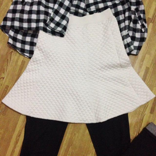Women Warm Lined Check Skirt Uniqlo