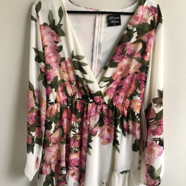 Women's floral playsuit