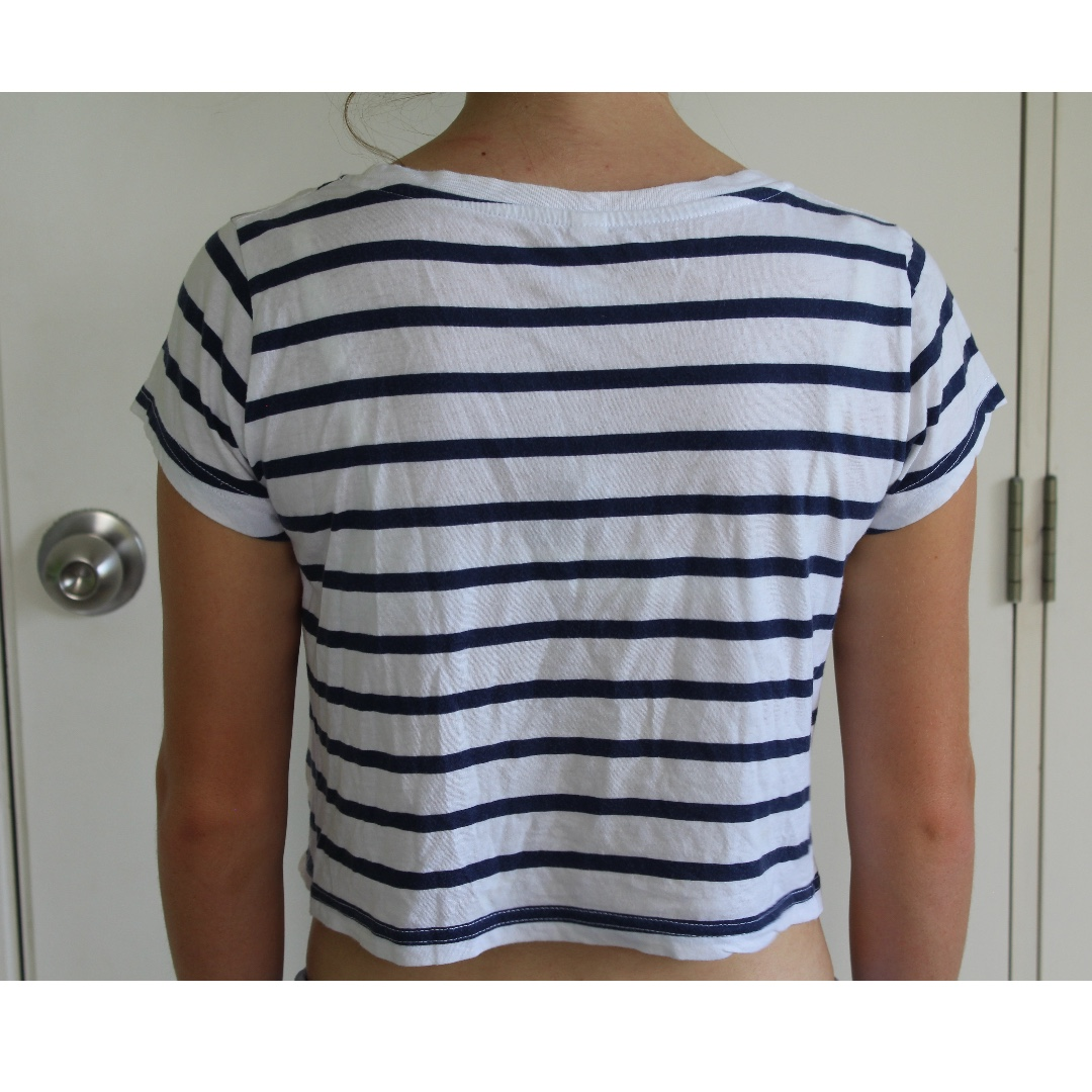 6fdde8d812e2e8 Womens Navy Blue And White Striped Shirt – EDGE Engineering and ...